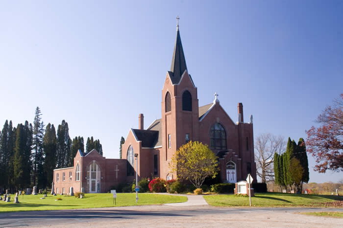 Zion Lutheran Church - Trade lake